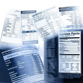 Mockup of a nutritional facts label.