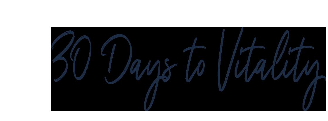 30 Days to Vitality Program