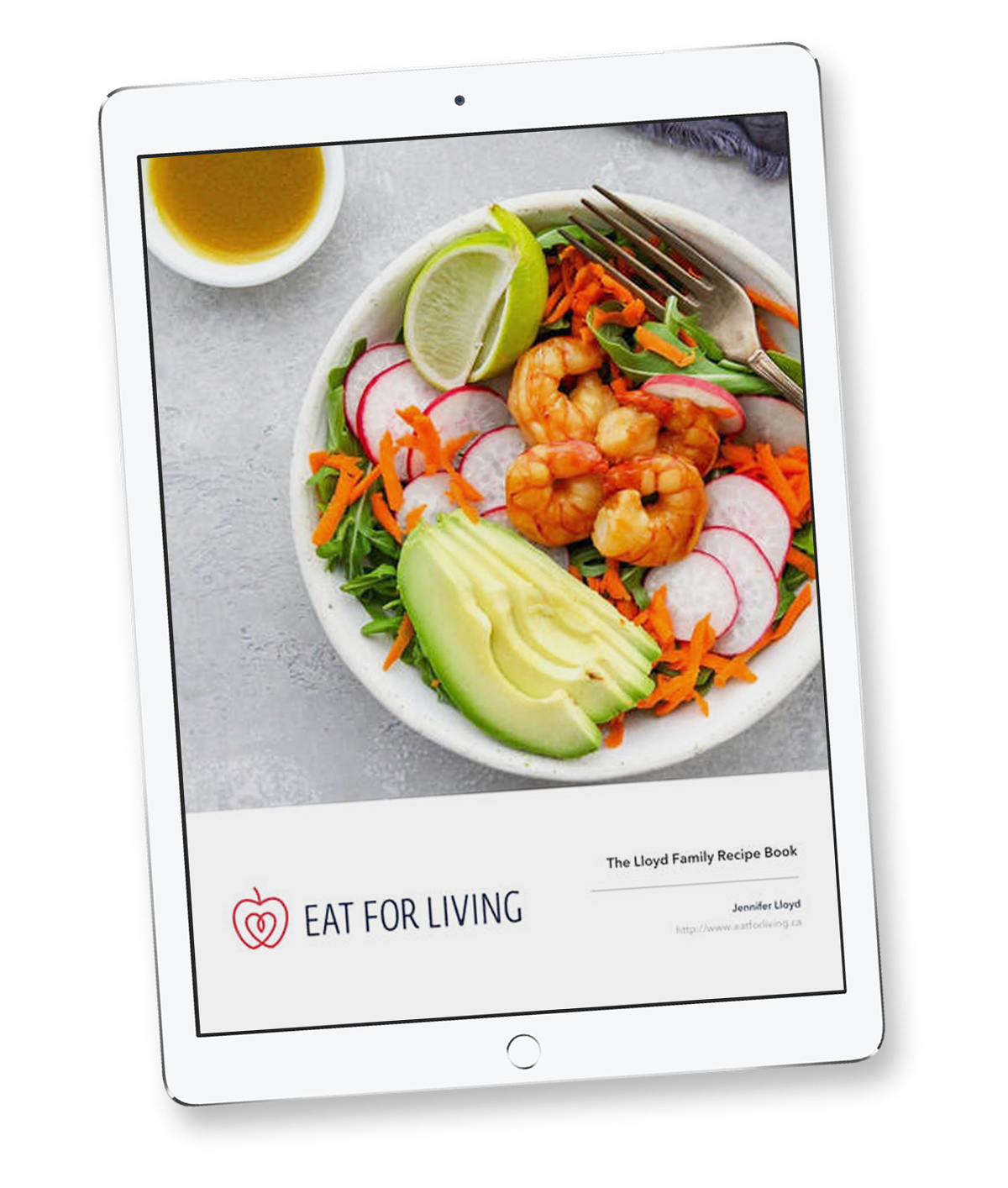 Custom Recipe Collection Cover on an Ipad