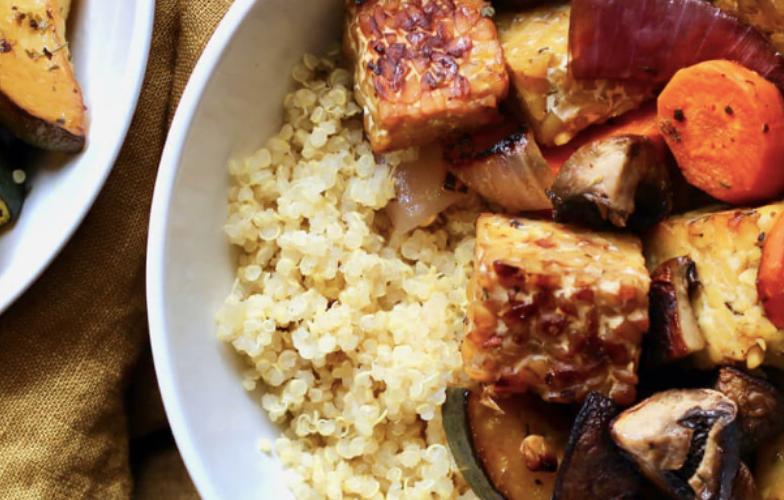 Balsamic Roasted Tempeh Bowls
