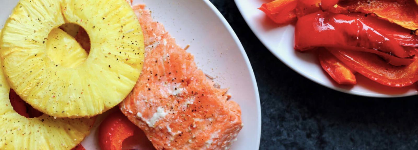 One Pan Hawaiian Salmon